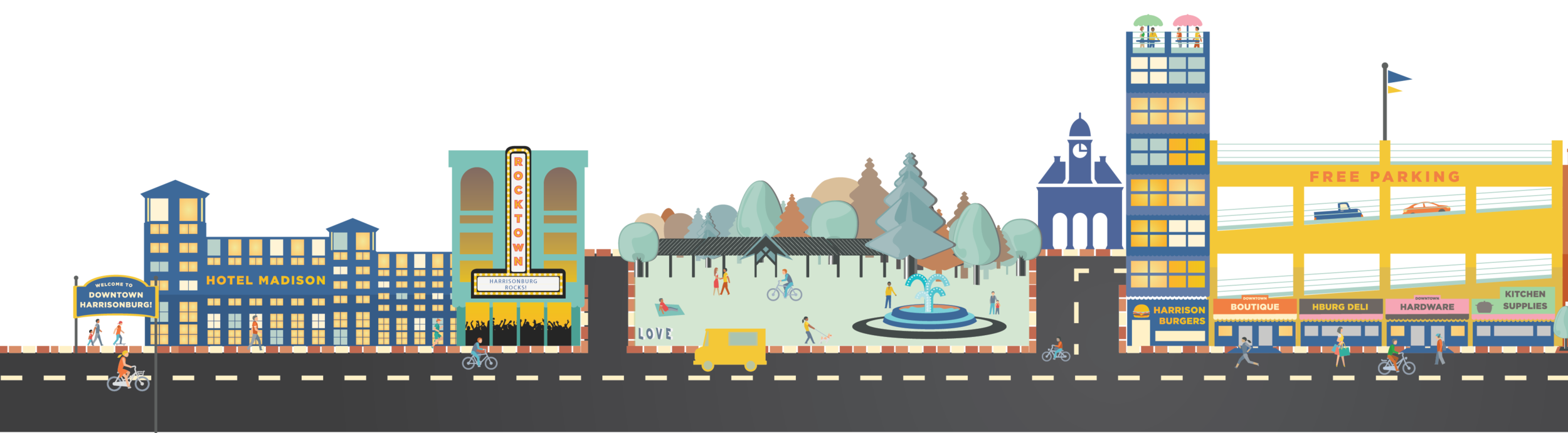 Vision future projects harrisonburg. City clipart downtown