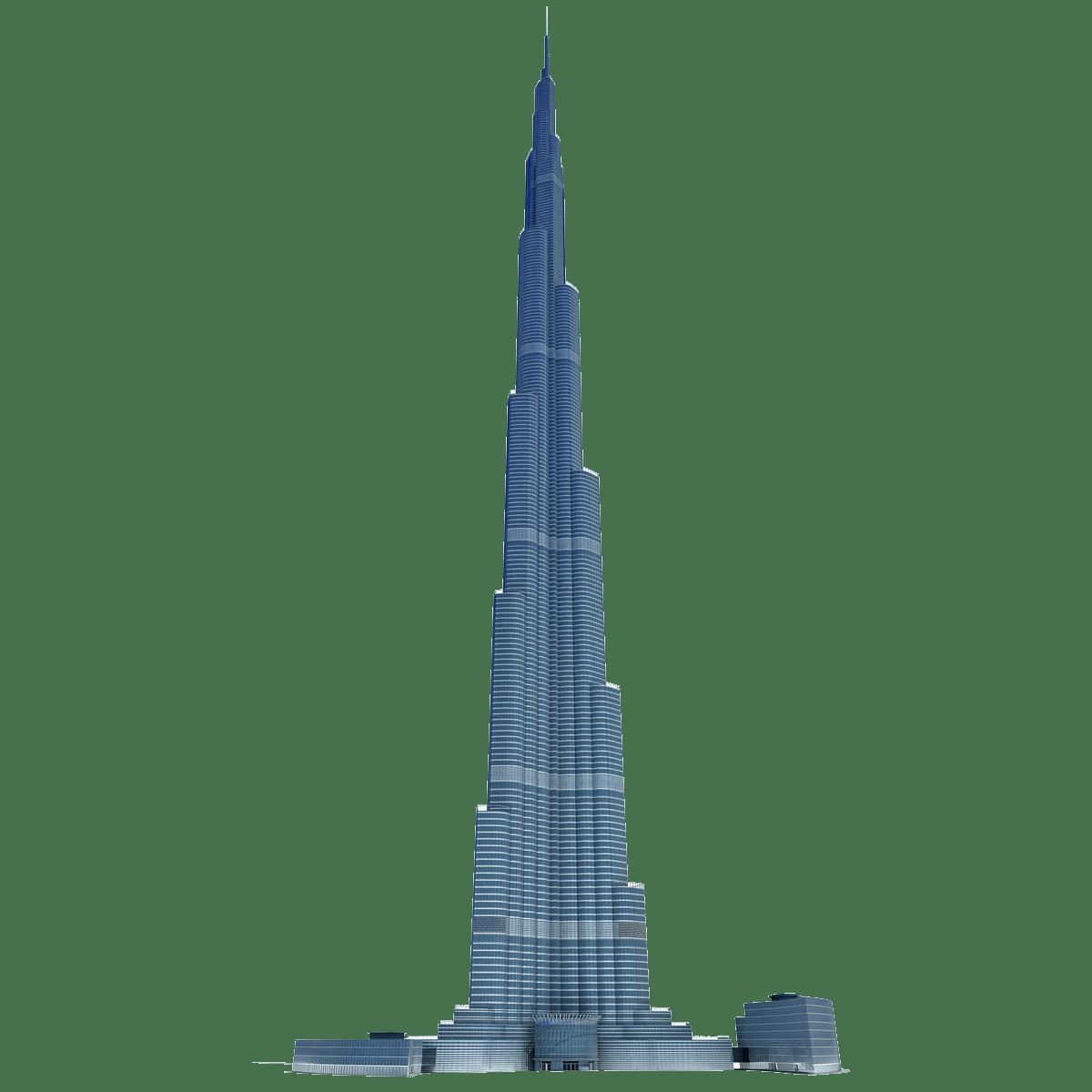 Burj khalifa transparent png. Money clipart tower