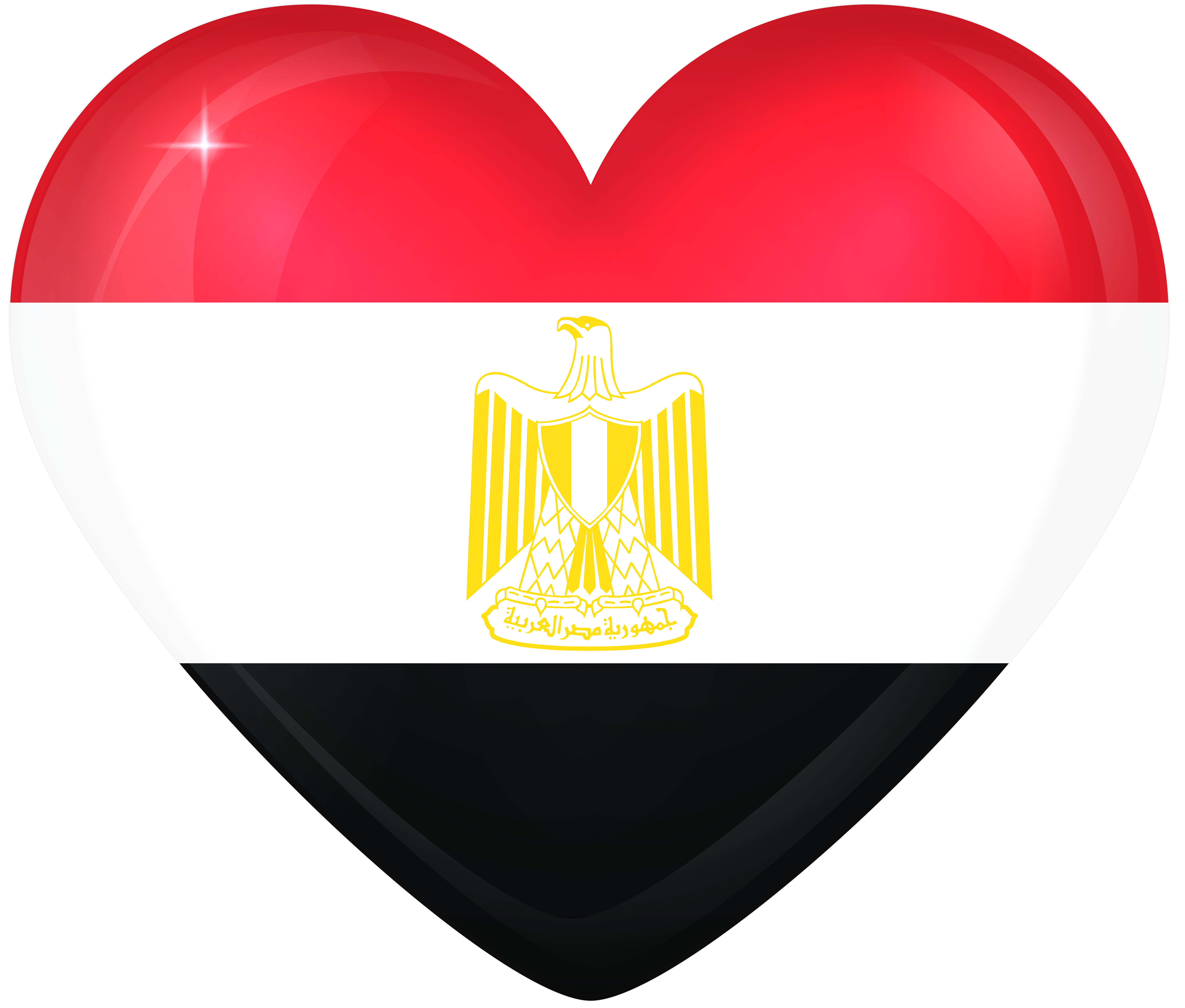 Heartbeat clipart vital sign. Egypt large heart flag