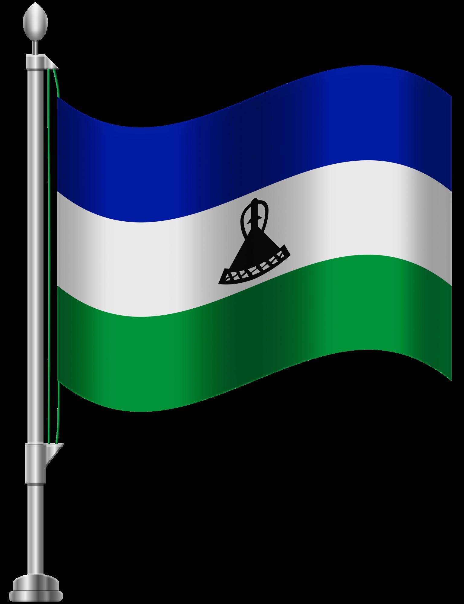 Lesotho png clip art. Flag clipart green