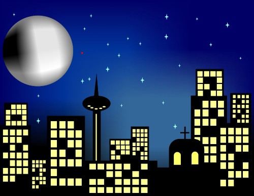 Night clipart city. Free cliparts download clip
