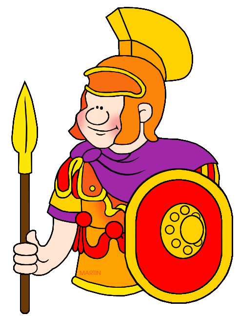 Warrior clipart roman general. Rome clip art by