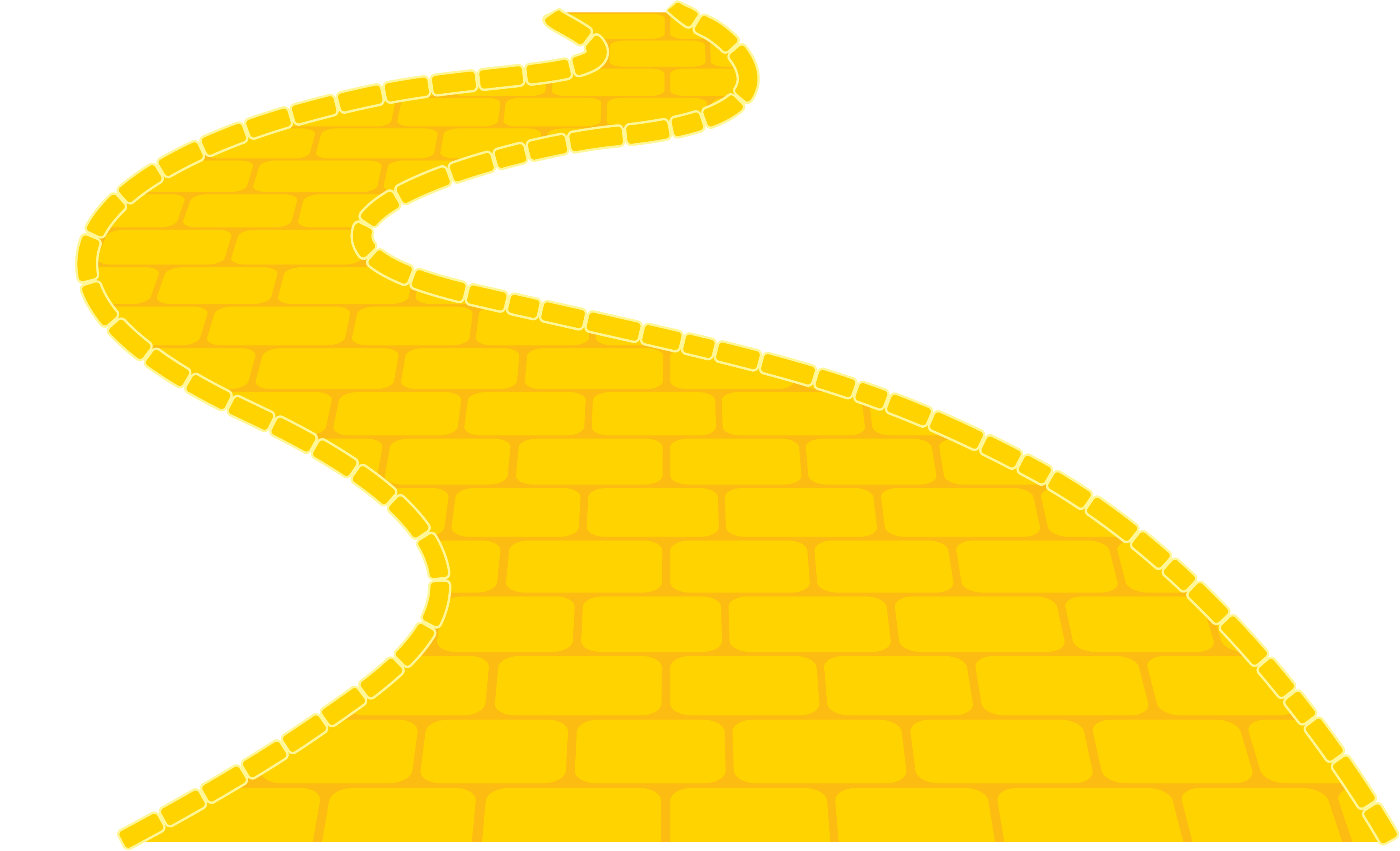 Trail clipart curve road. Yellow brick image group