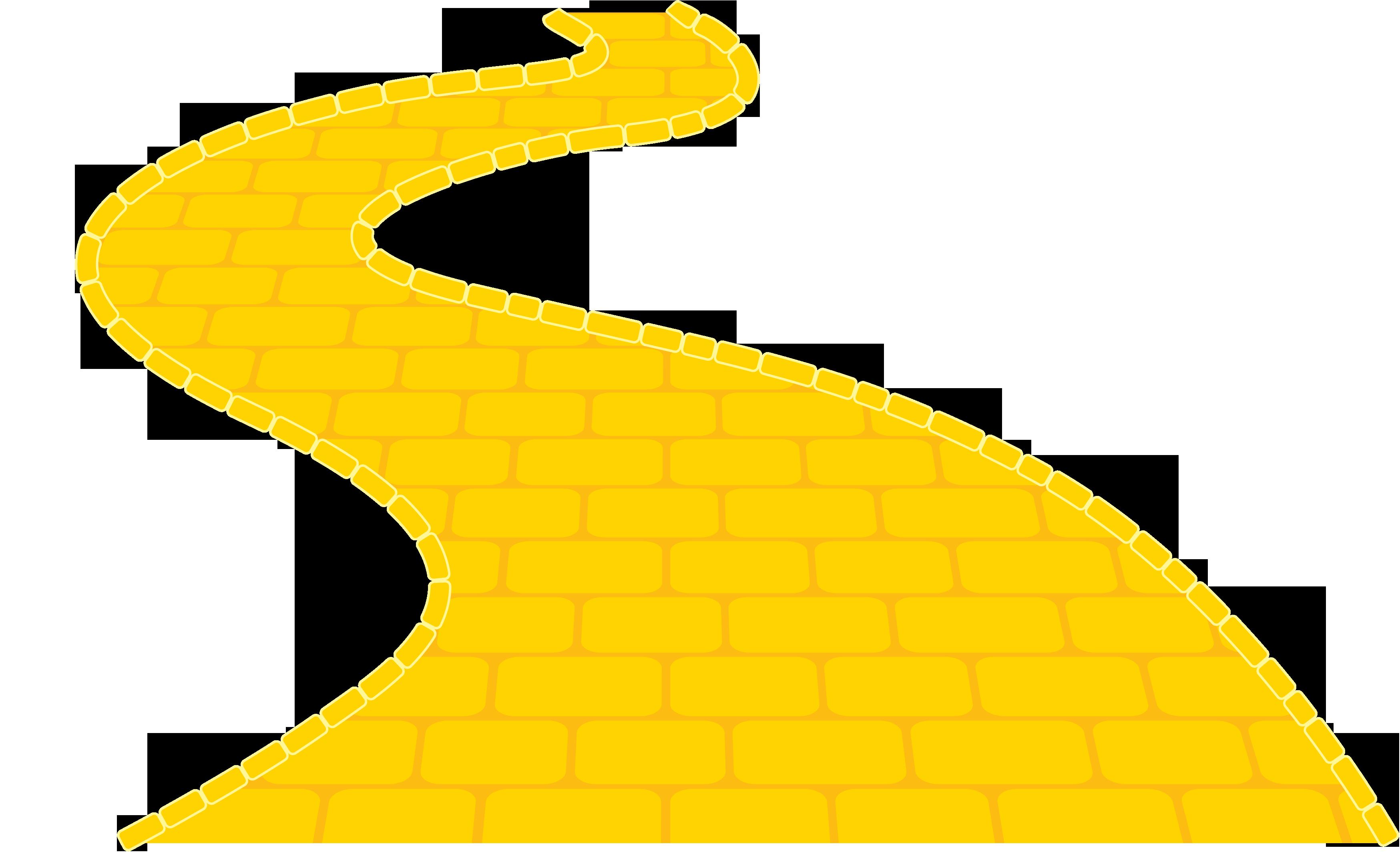Highway clipart journey. Yellow brick road image