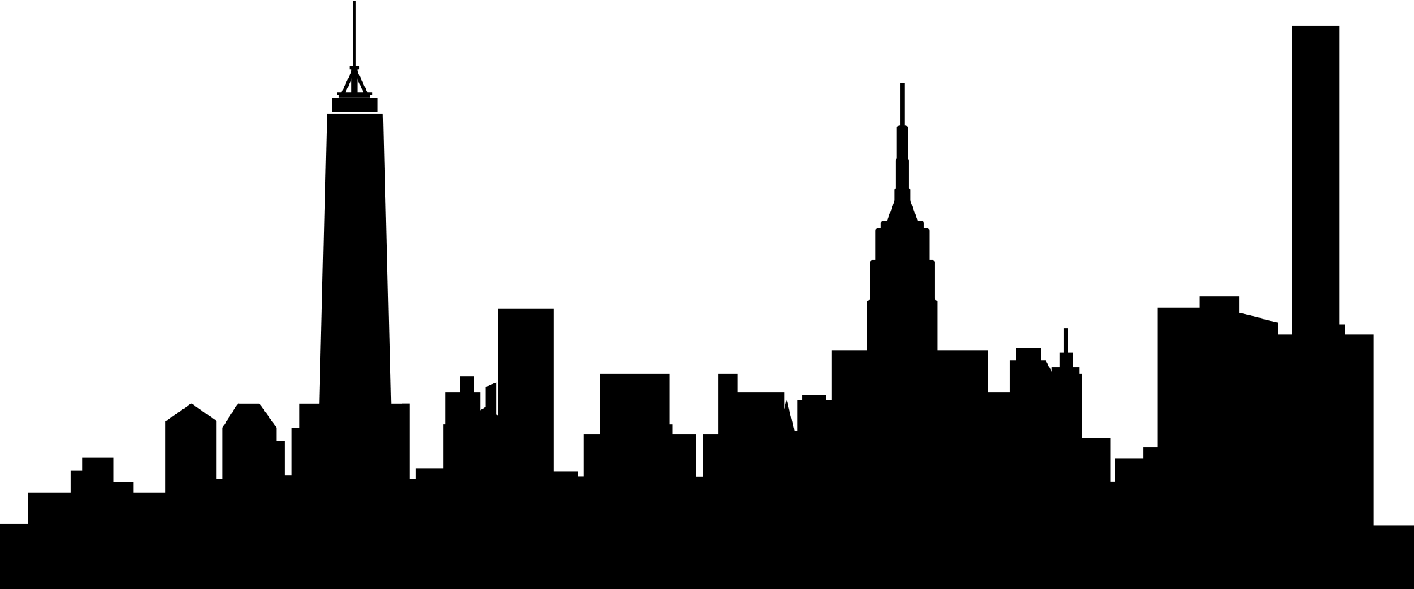 Ny skyline silhouette at. City clipart indonesia