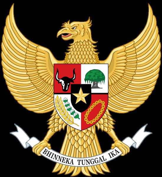 National emblem of garuda. City clipart indonesia