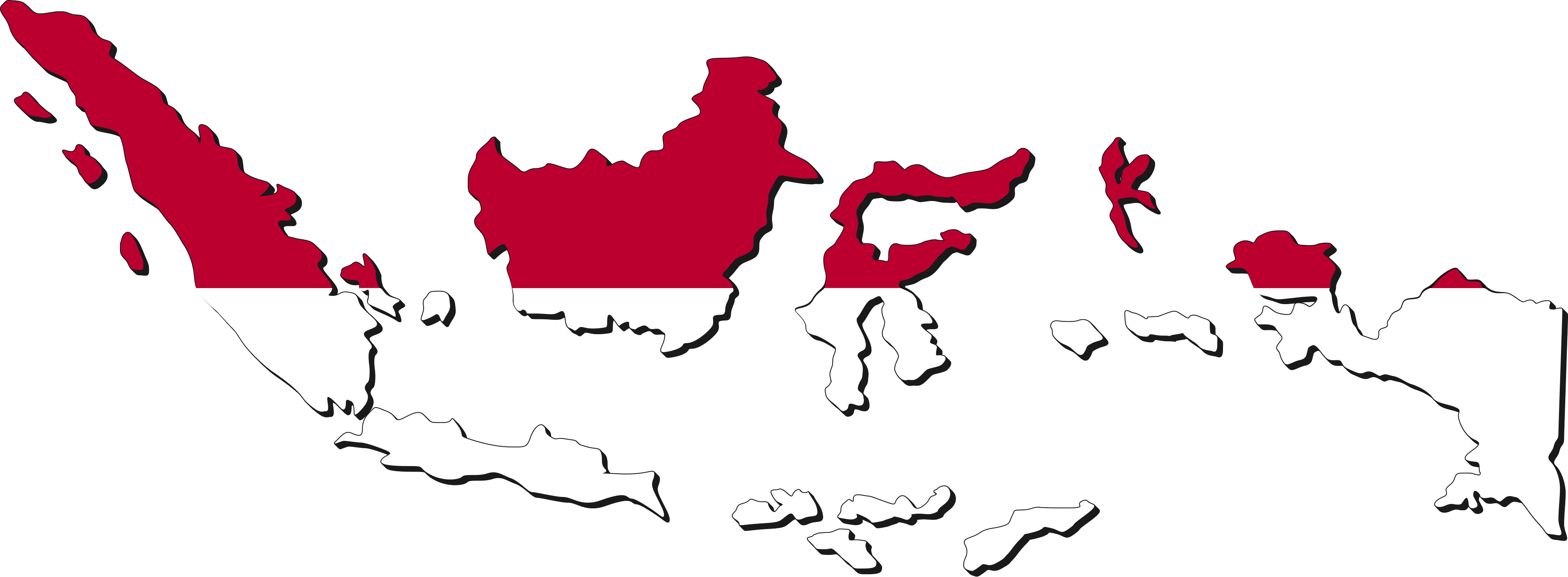 Flag of globe map. City clipart indonesia