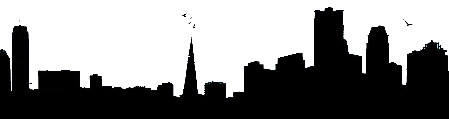 Hong kong skyline silhouette. City clipart indonesia