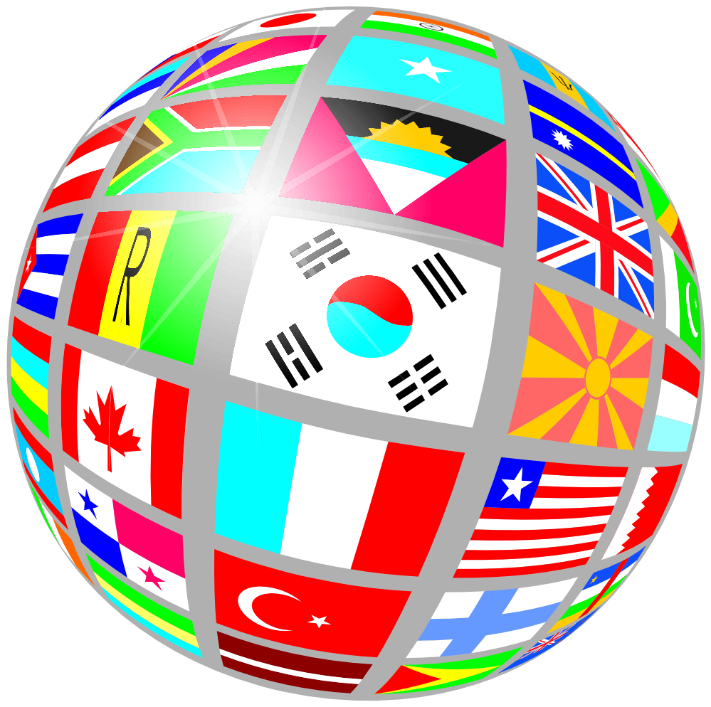 Flag clipart vector.  collection of world