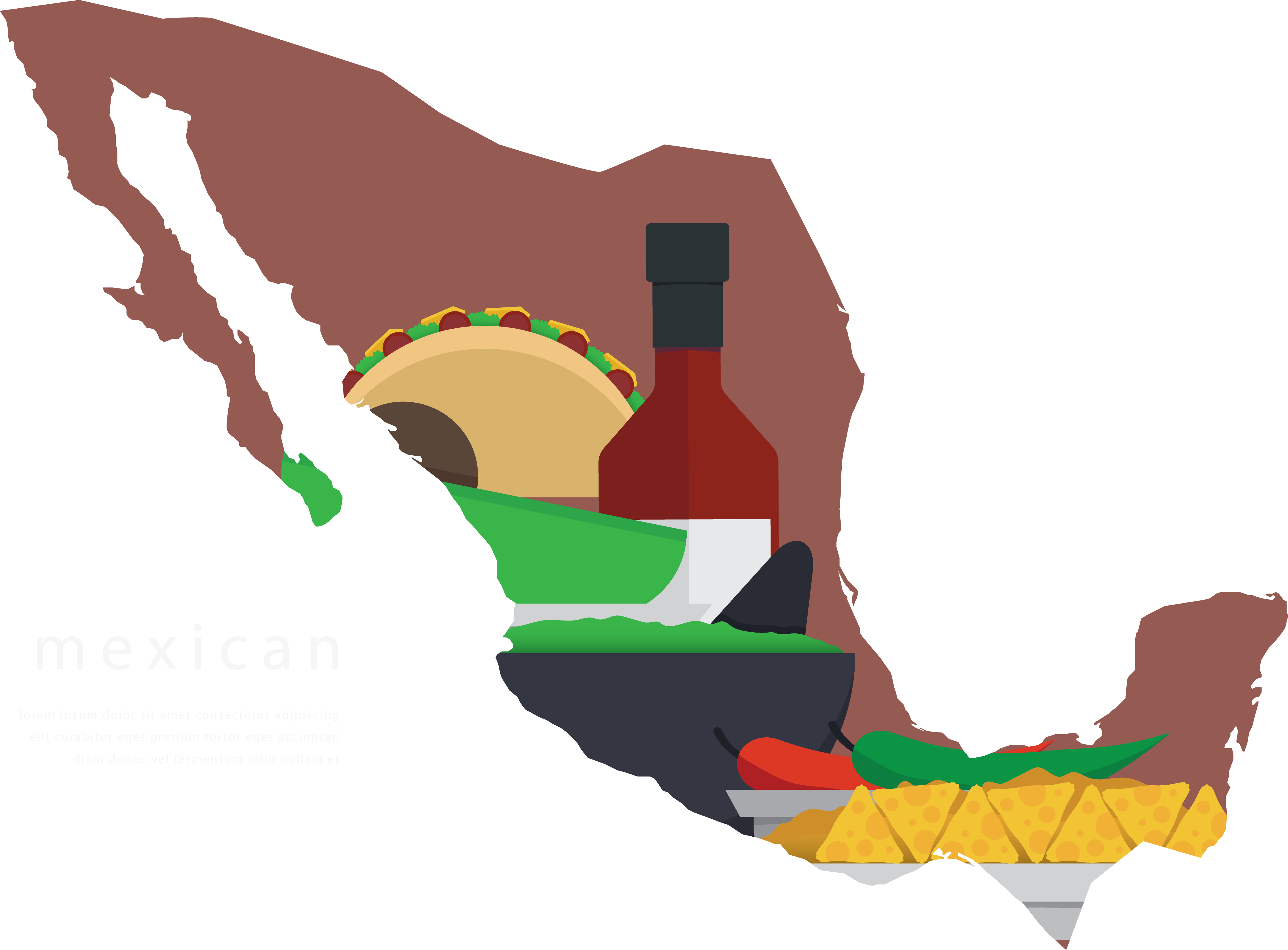 Silhouette at getdrawings com. Mexico clipart map