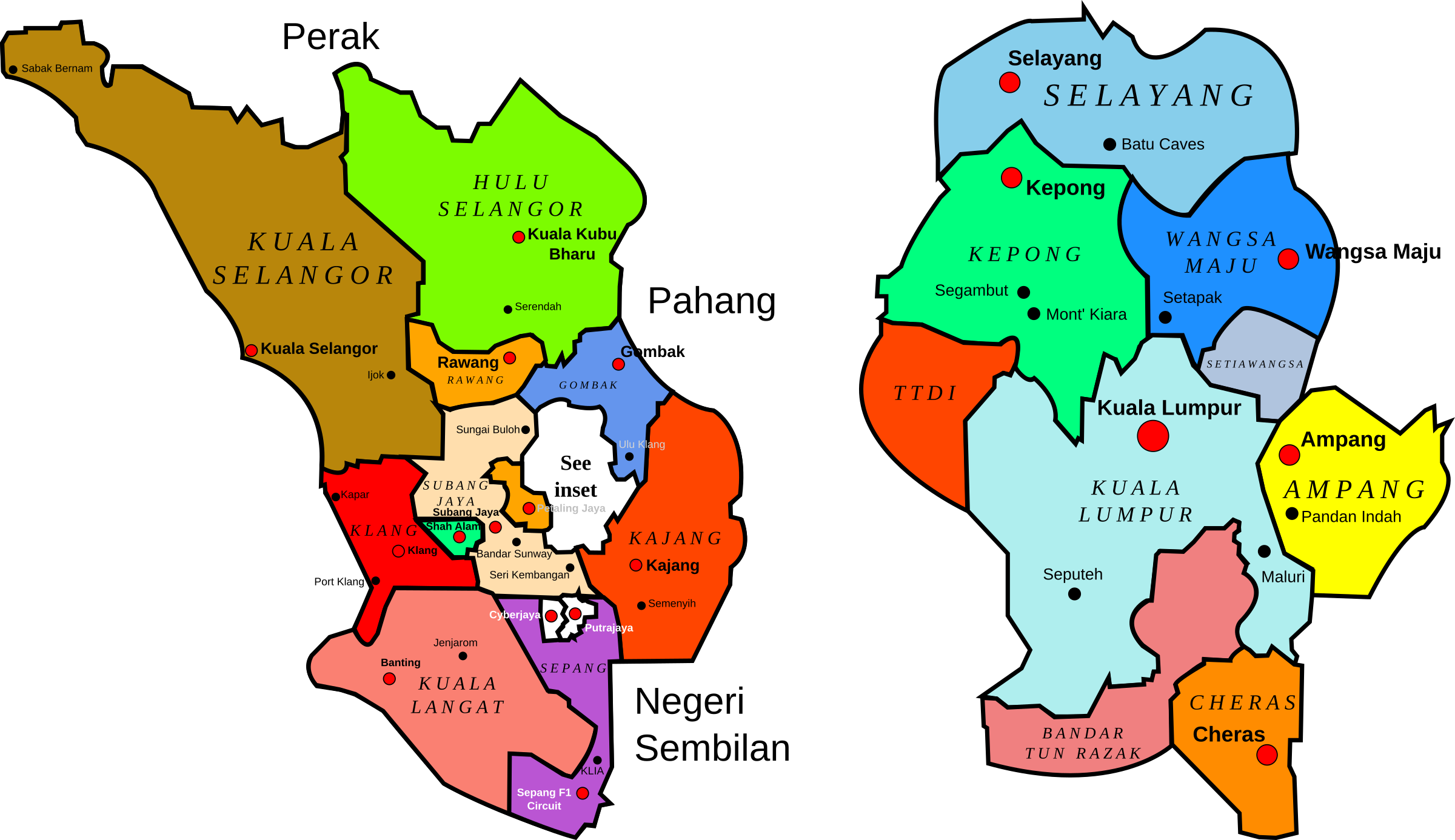 clipart map town