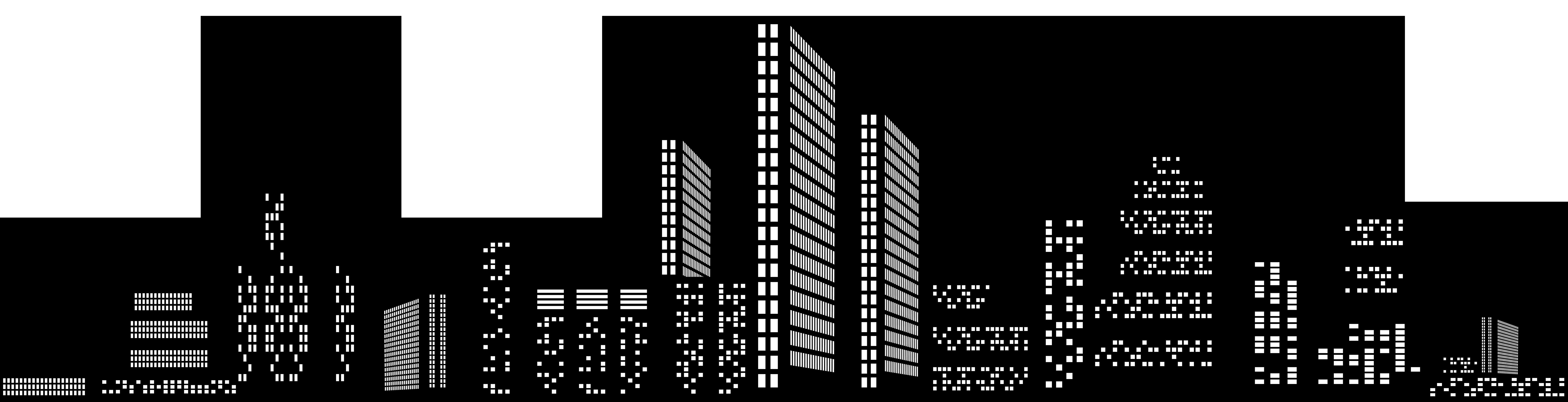 Cityscape silhouette clip art. City clipart metropolitan area