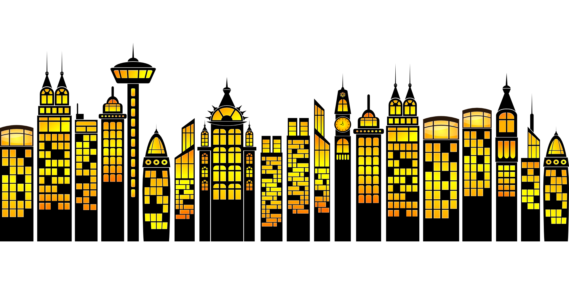 Building simple clip art. City clipart metropolitan area