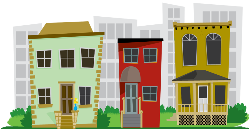 Free neighborhood cliparts download. Neighbors clipart downtown