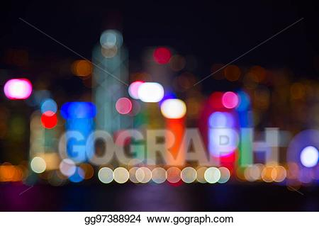 Lights stock illustration gg. City clipart night light