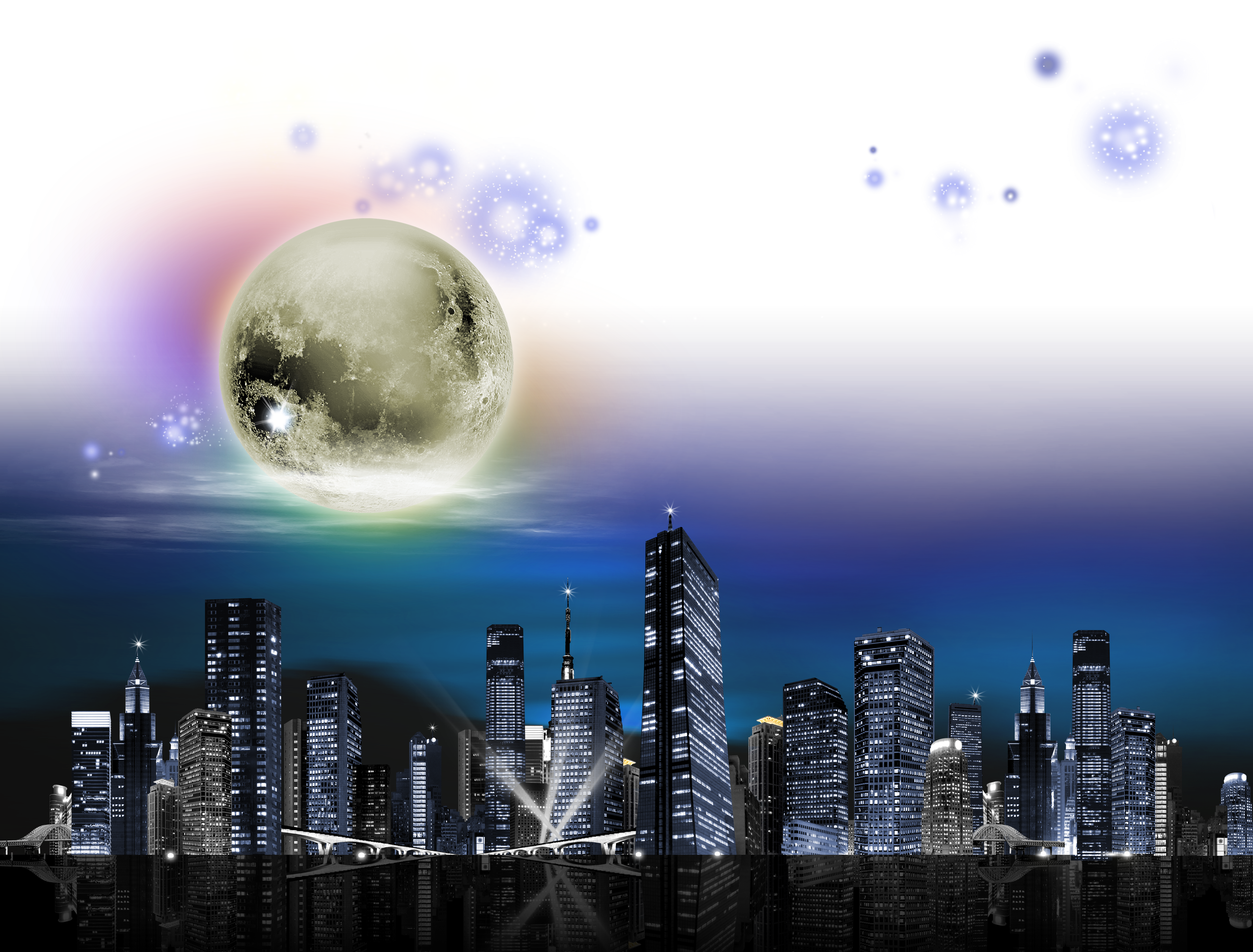Download sky free png. City clipart night light
