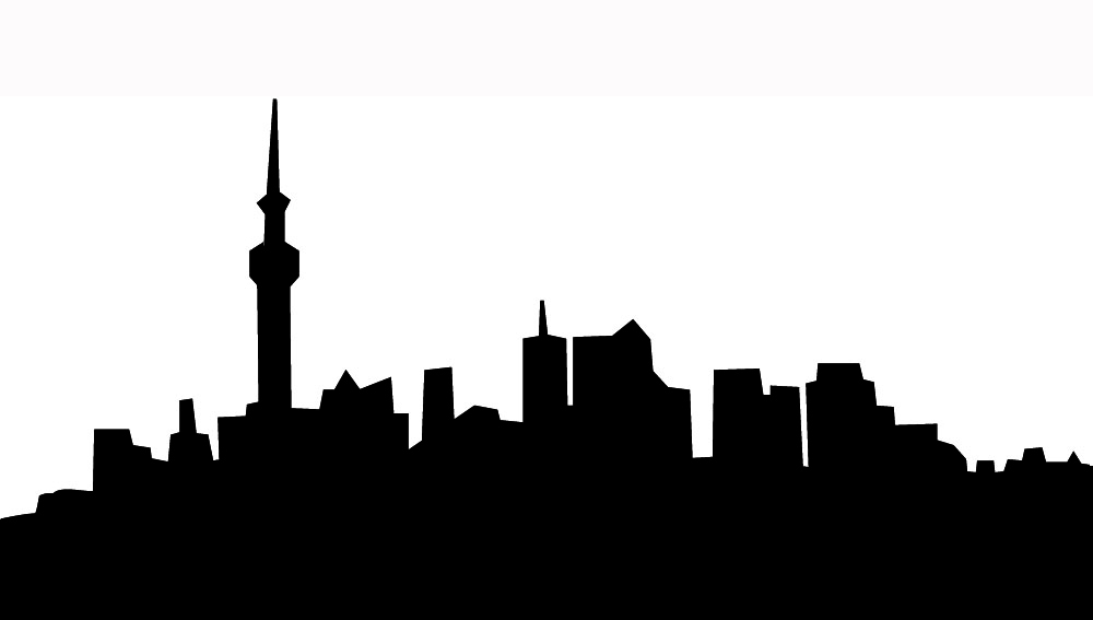 Cityscape clipart one. Free city skyline silhouette
