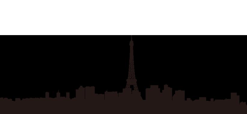 Paris silhouette with eiffel. Egypt clipart skyline