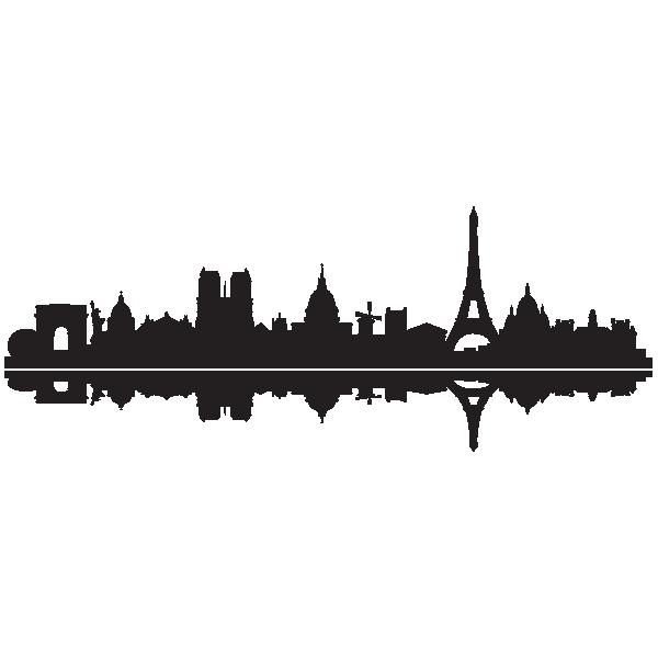 Sticker skyline paris pinterest. Europe clipart french monument