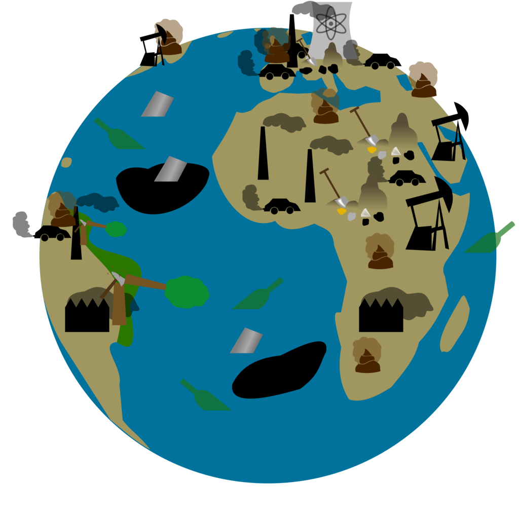 collection of polluted. Environment clipart pollution free environment