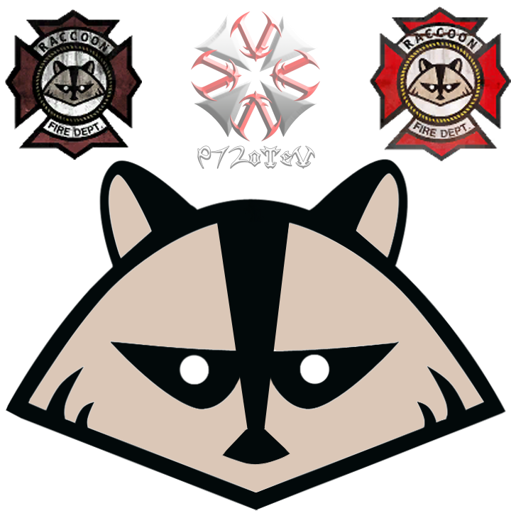 City clipart resident. Raccoon logo png by