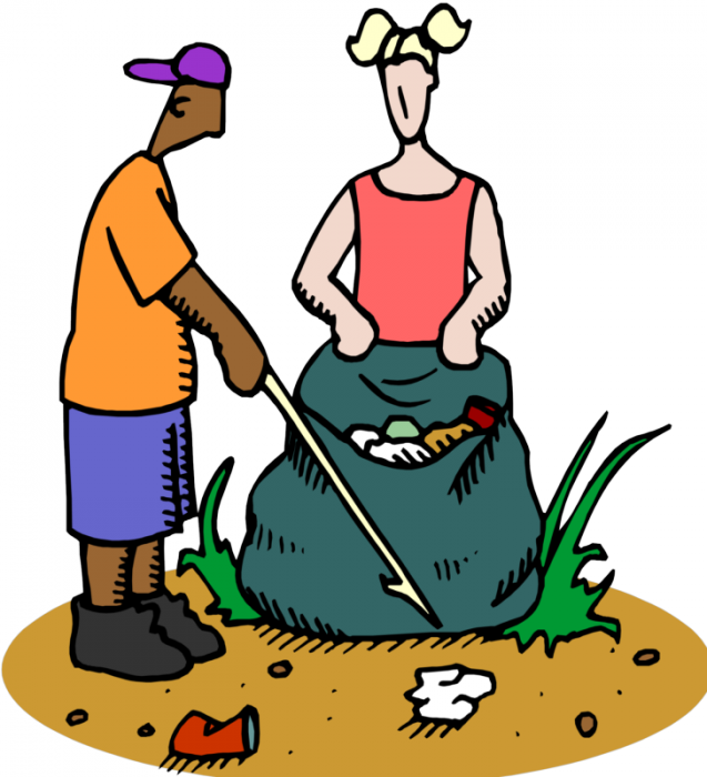 People clipart cleaning. Join pick up day