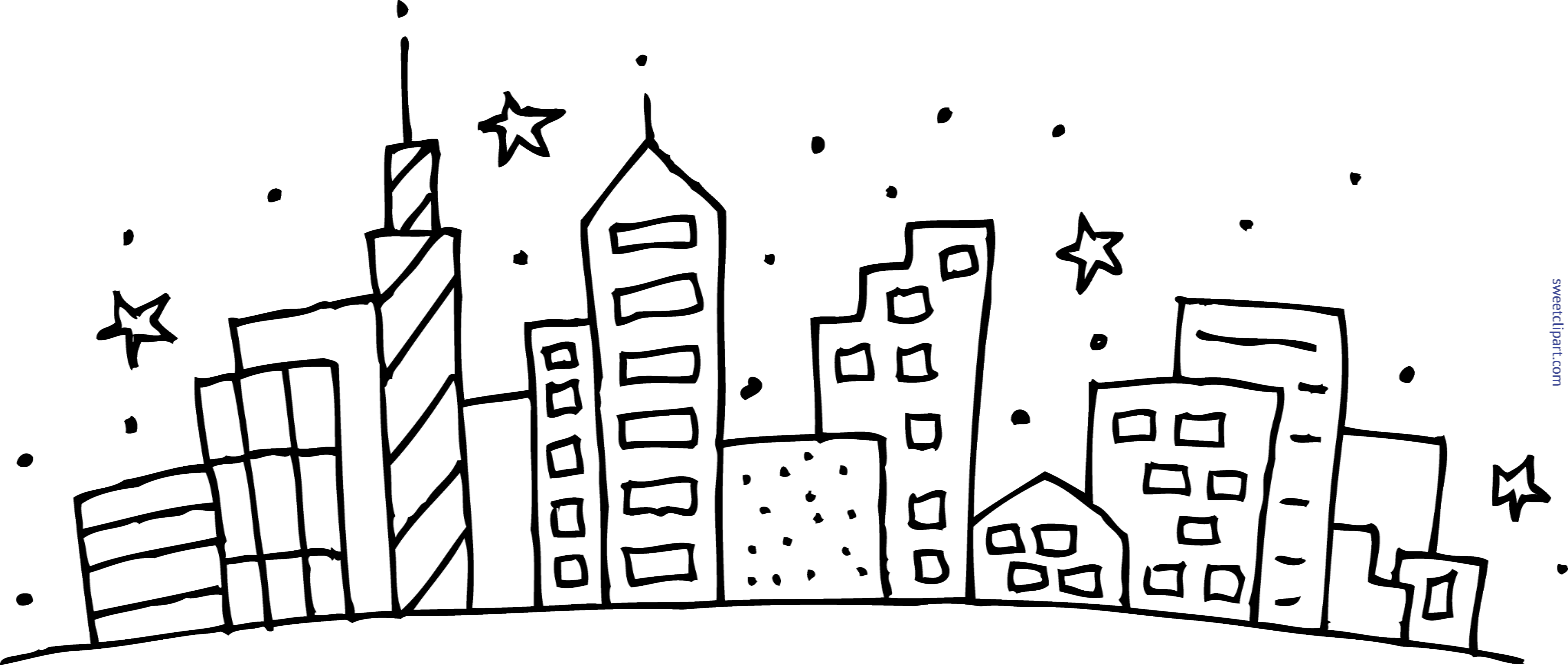 Scape drawing at getdrawings. City clipart simple