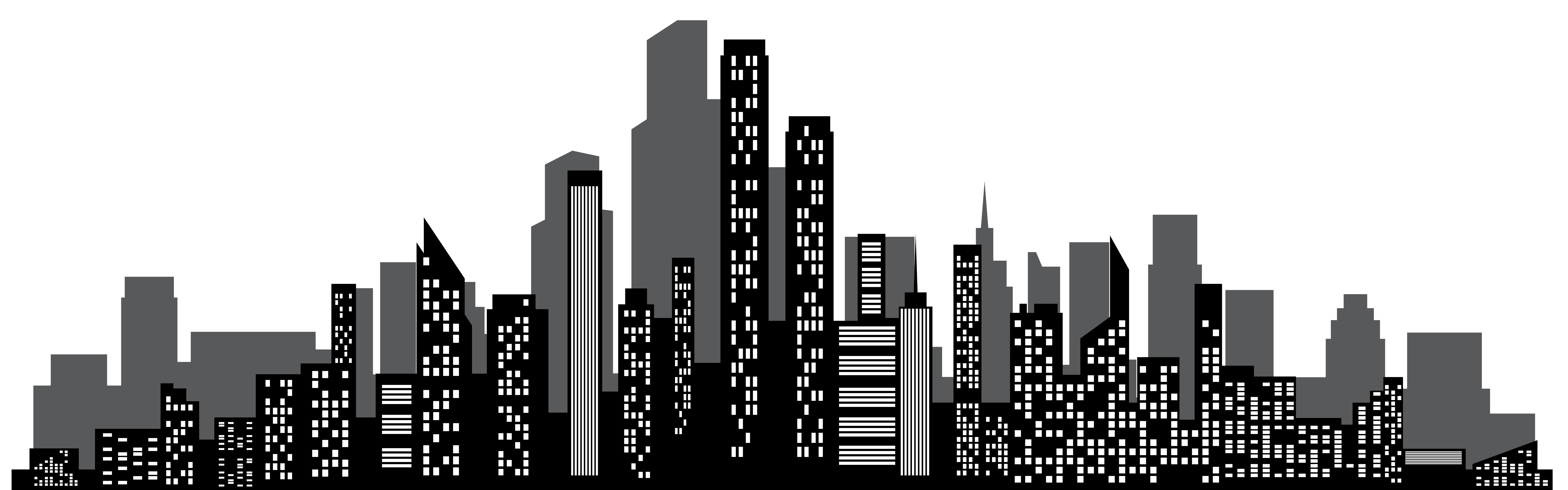 How to draw a. City clipart simple