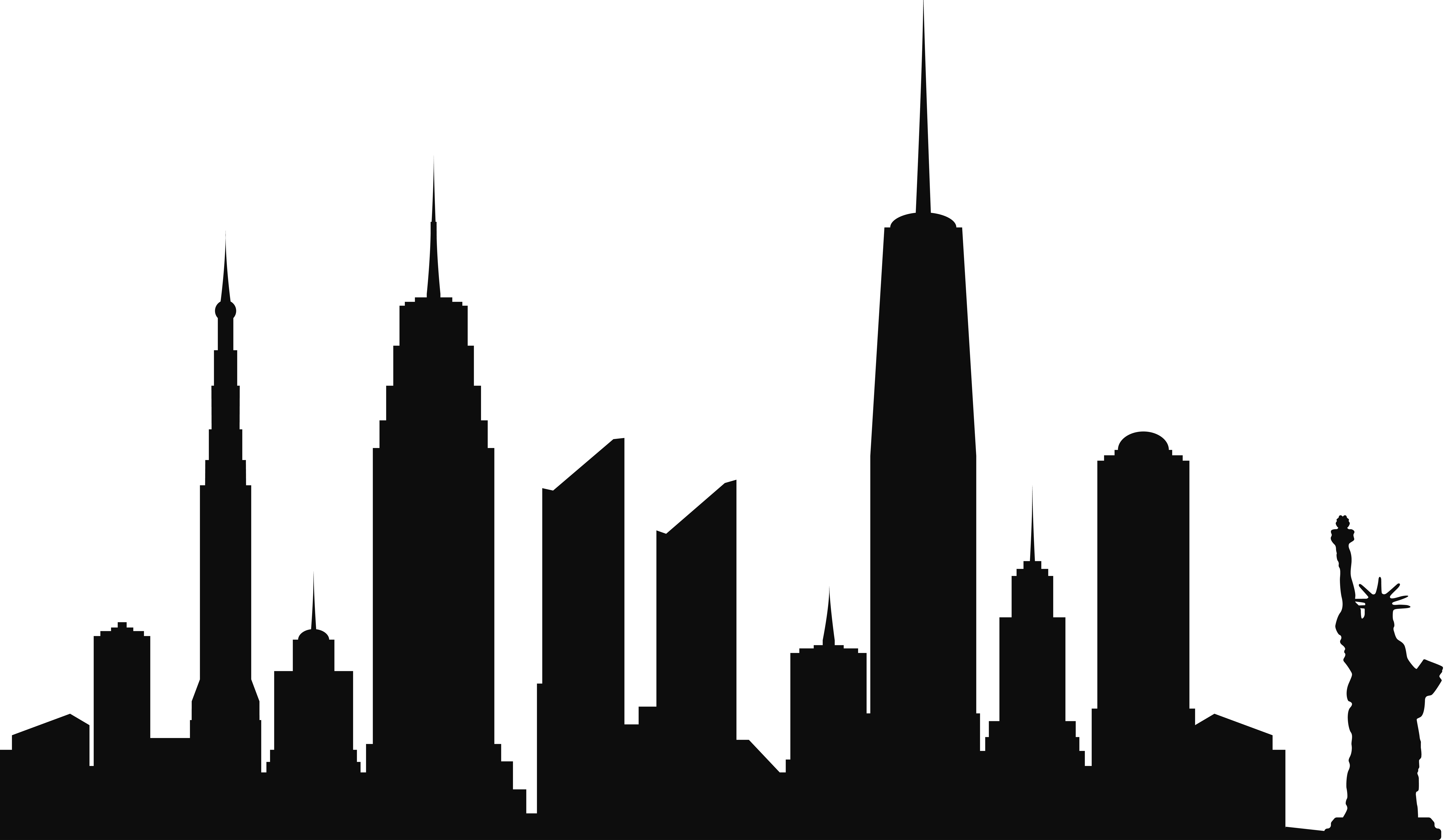 New york skyline silhouette. City vector png