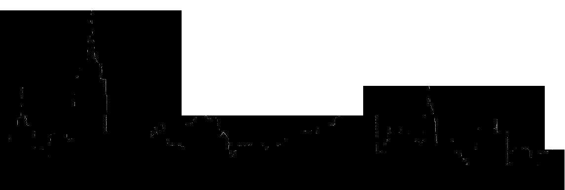 Vegas skyline silhouette at. City clipart simple