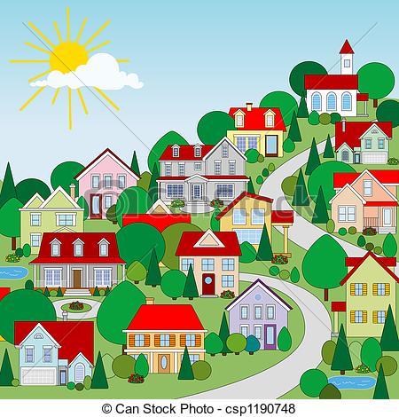 clipartlook. Neighbors clipart suburban neighborhood
