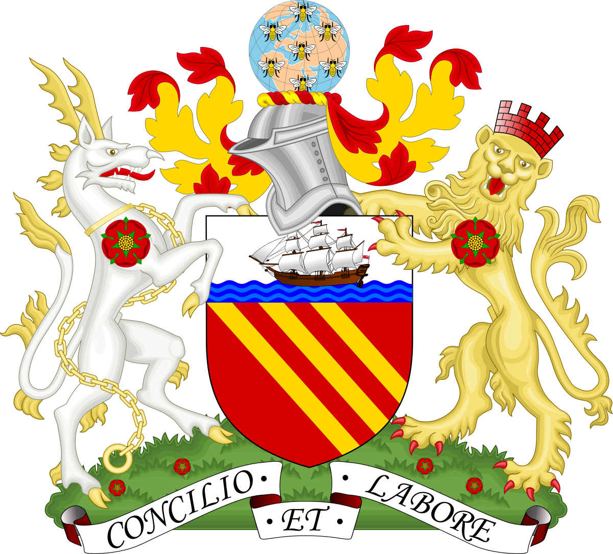 Symbols of manchester wikipedia. President clipart city government