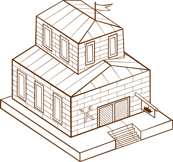 Townhall clip art at. Courthouse clipart town hall building