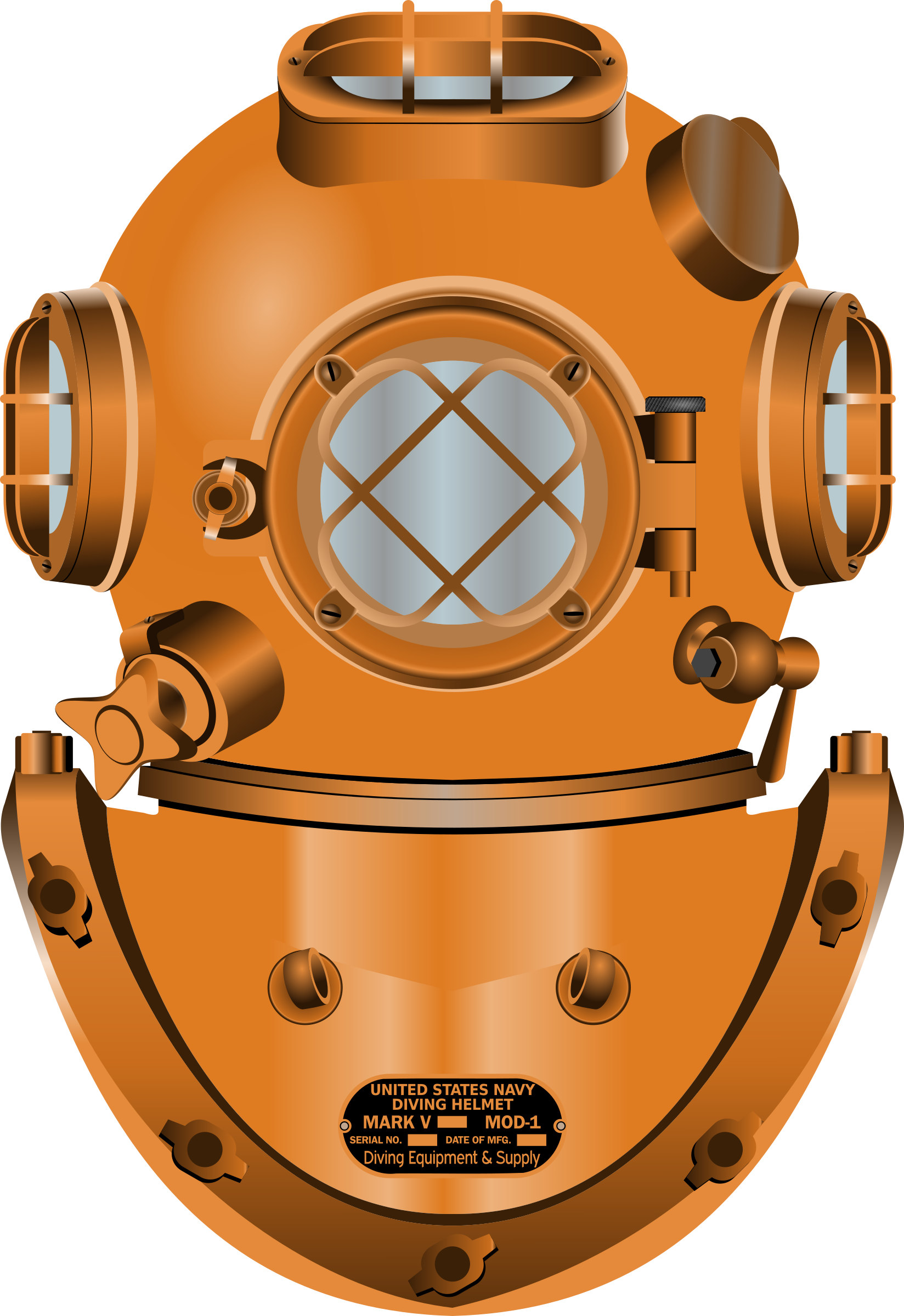 Diver clipart marine science. Diving helmet by conte