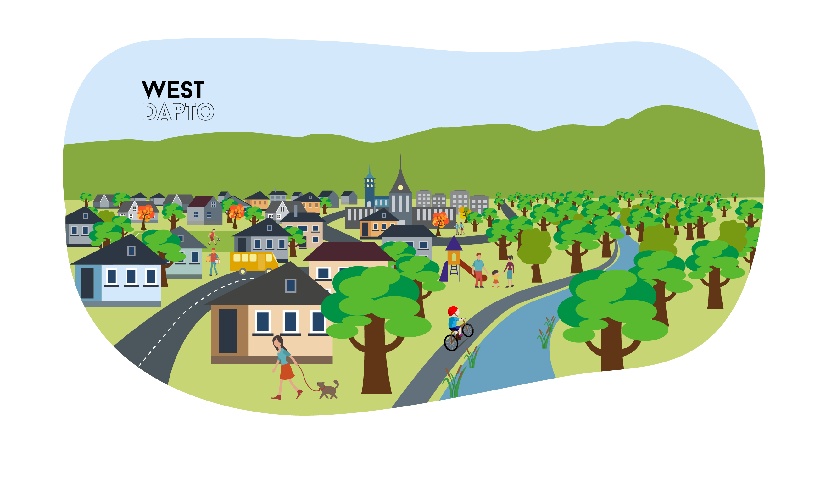 Community clipart urban area. Planning for west dapto