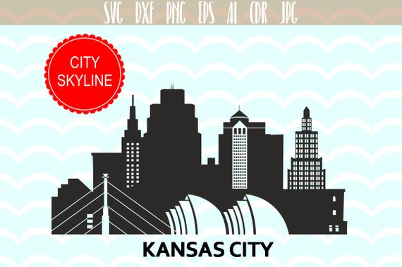 Kansas city usa vector. Cityscape clipart svg