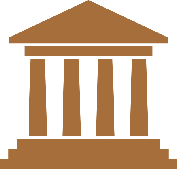 Library clipart vector. City hall brown clip