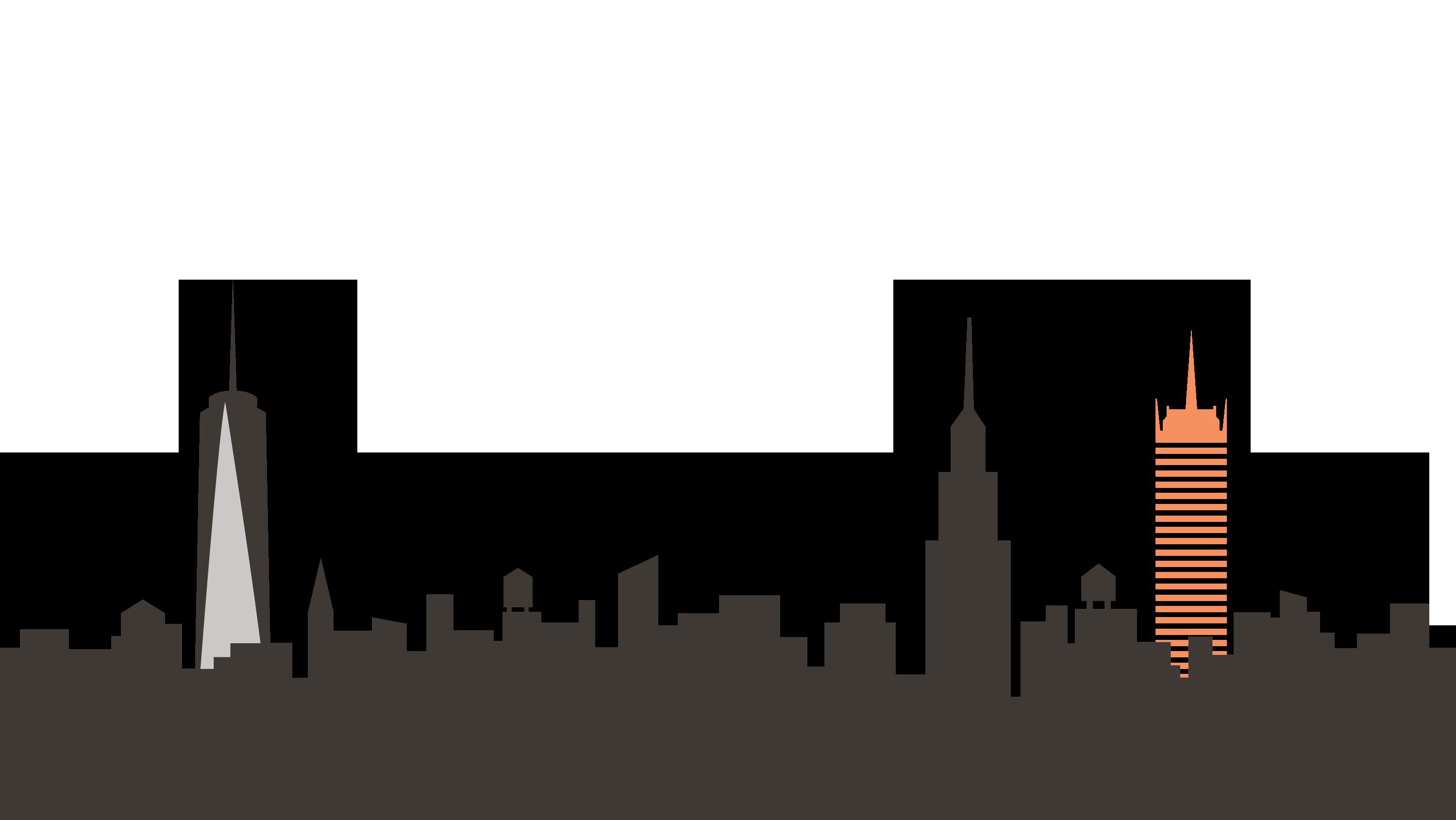 New york png skyline. Night clipart city