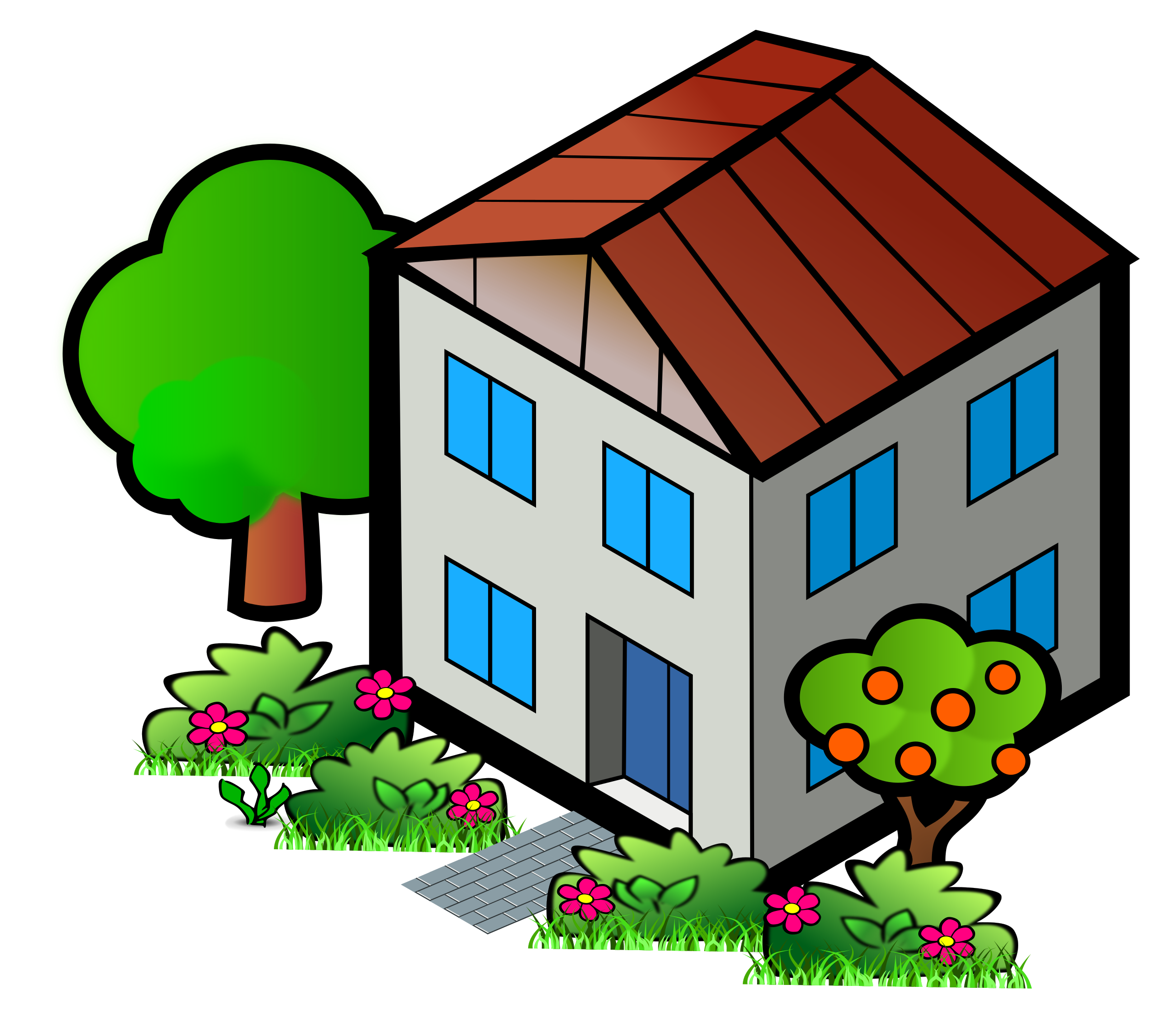 Houses clipart grey. Iso city house big