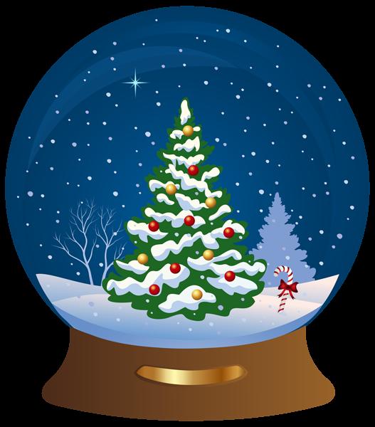 Christmas tree snowglobe transparent. Mailbox clipart snowy