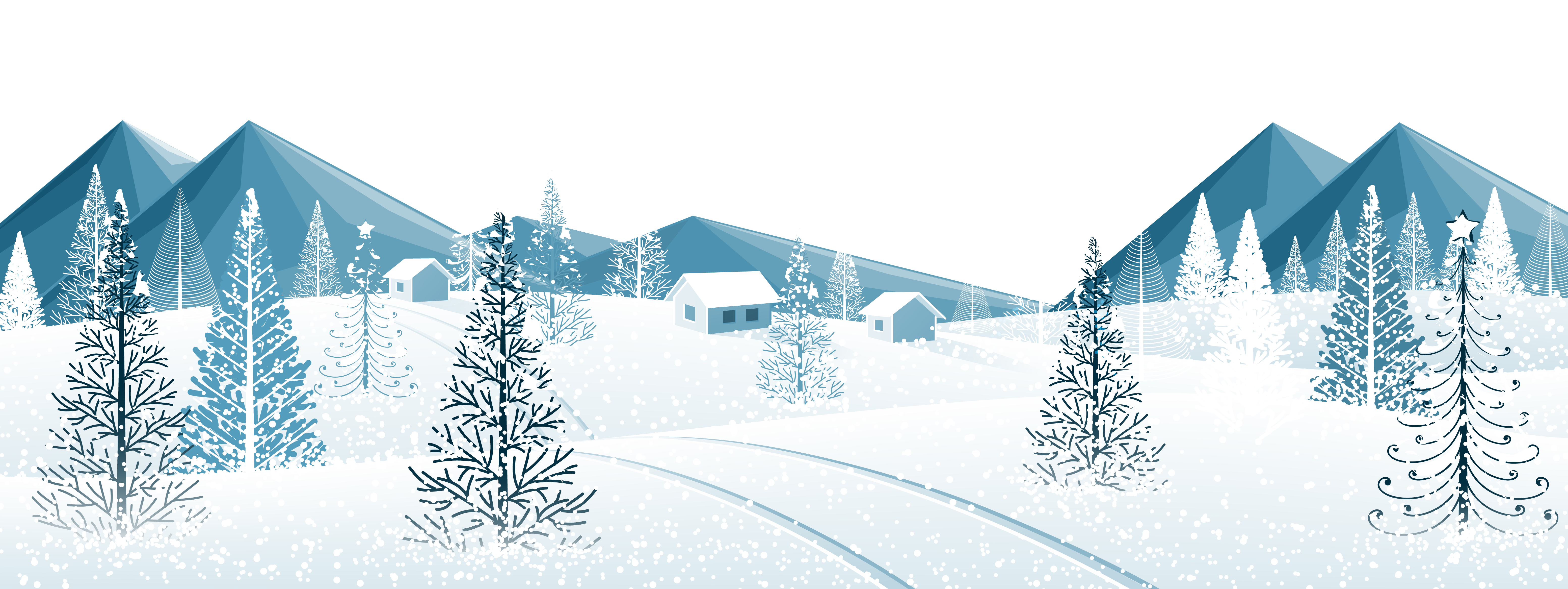 Ground with trees png. Nature clipart winter