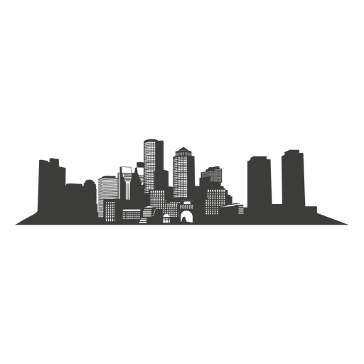 City vector png. Boston skyline silhouette transparent