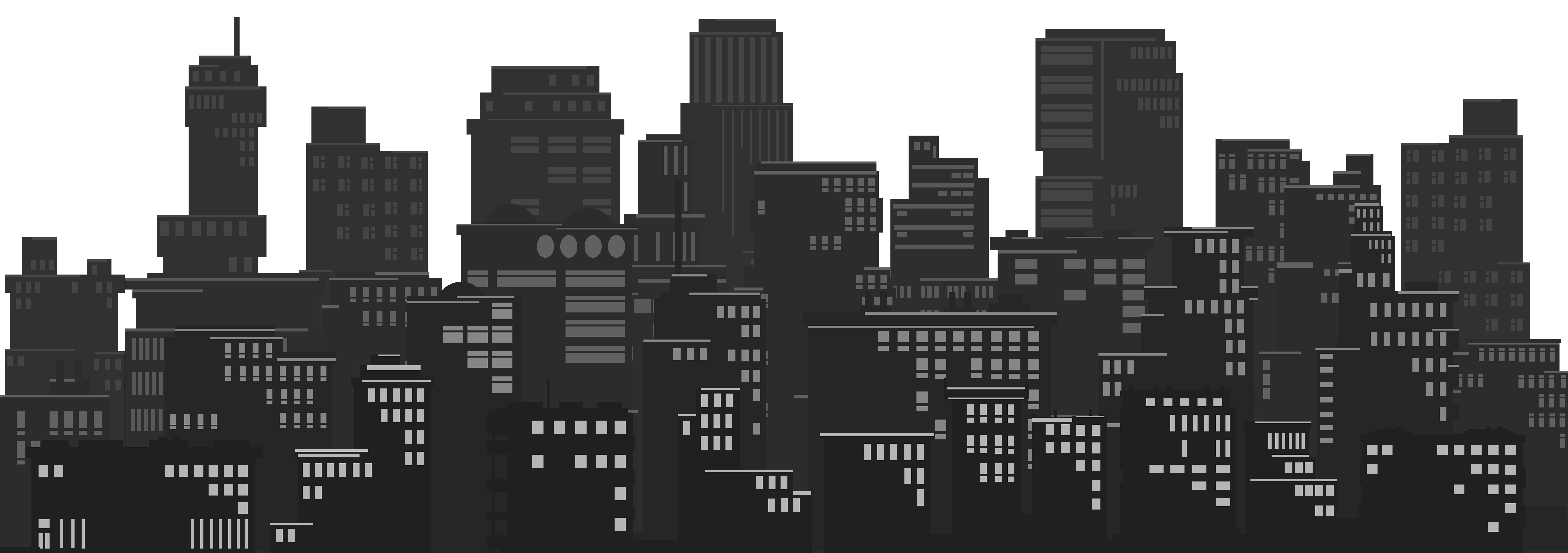 Silhouette clip art image. Cityscape clipart
