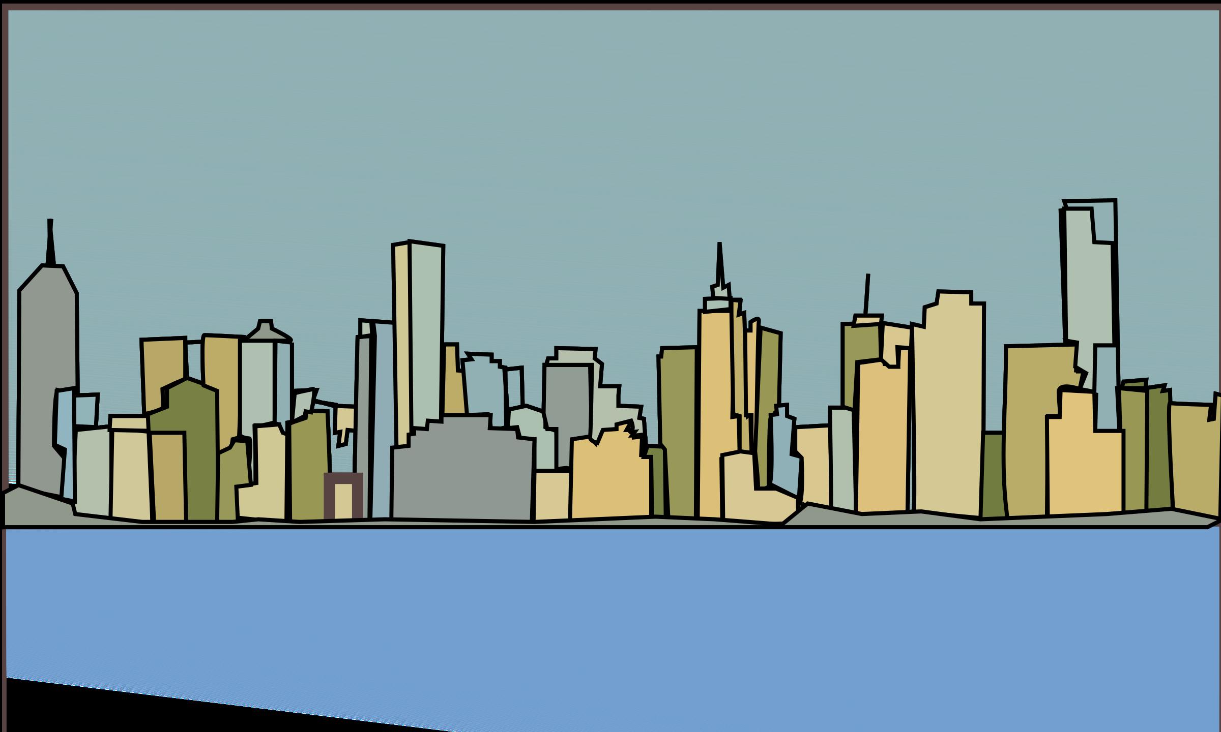 skyline clipart metropolitan area