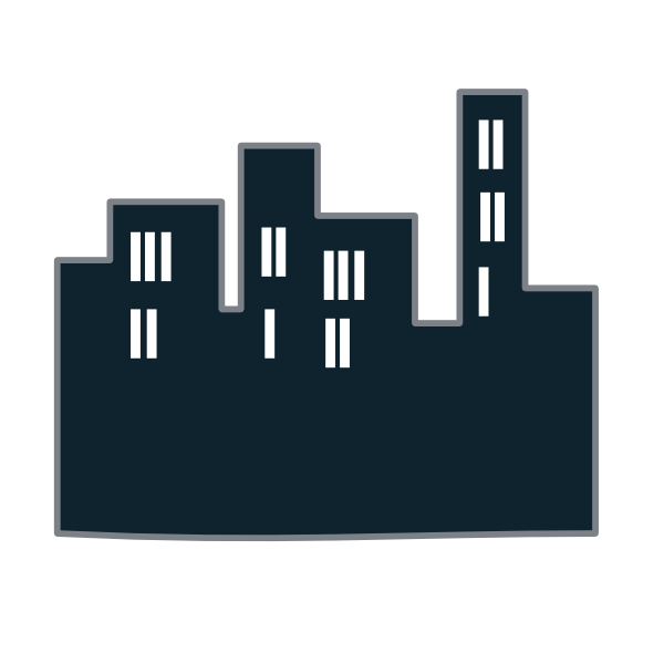 Tall clipart city building. Buildings icon clip art