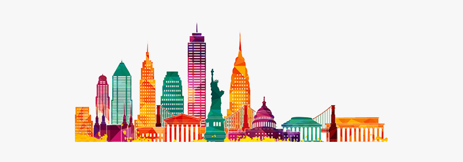 Skyline tall . Cityscape clipart building infrastructure