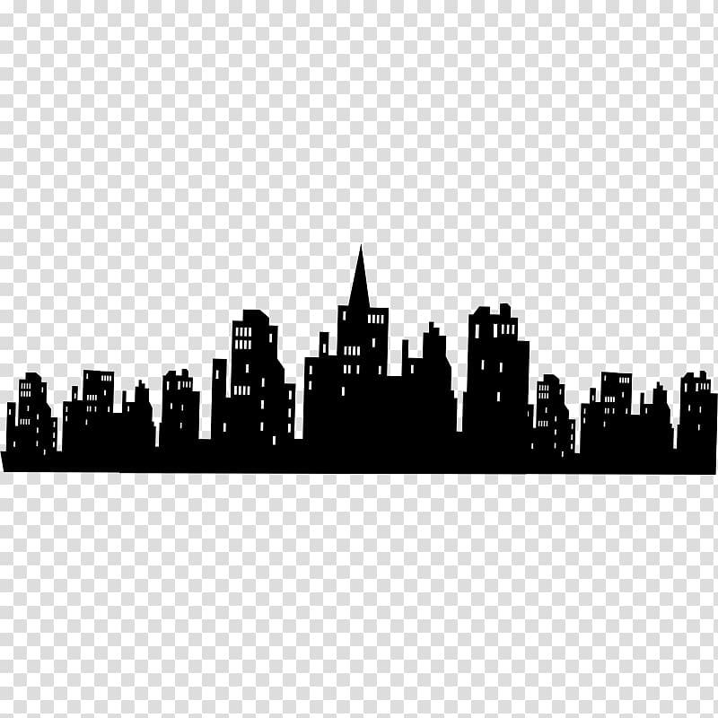 Batman bat signal wall. Skyline clipart gotham city