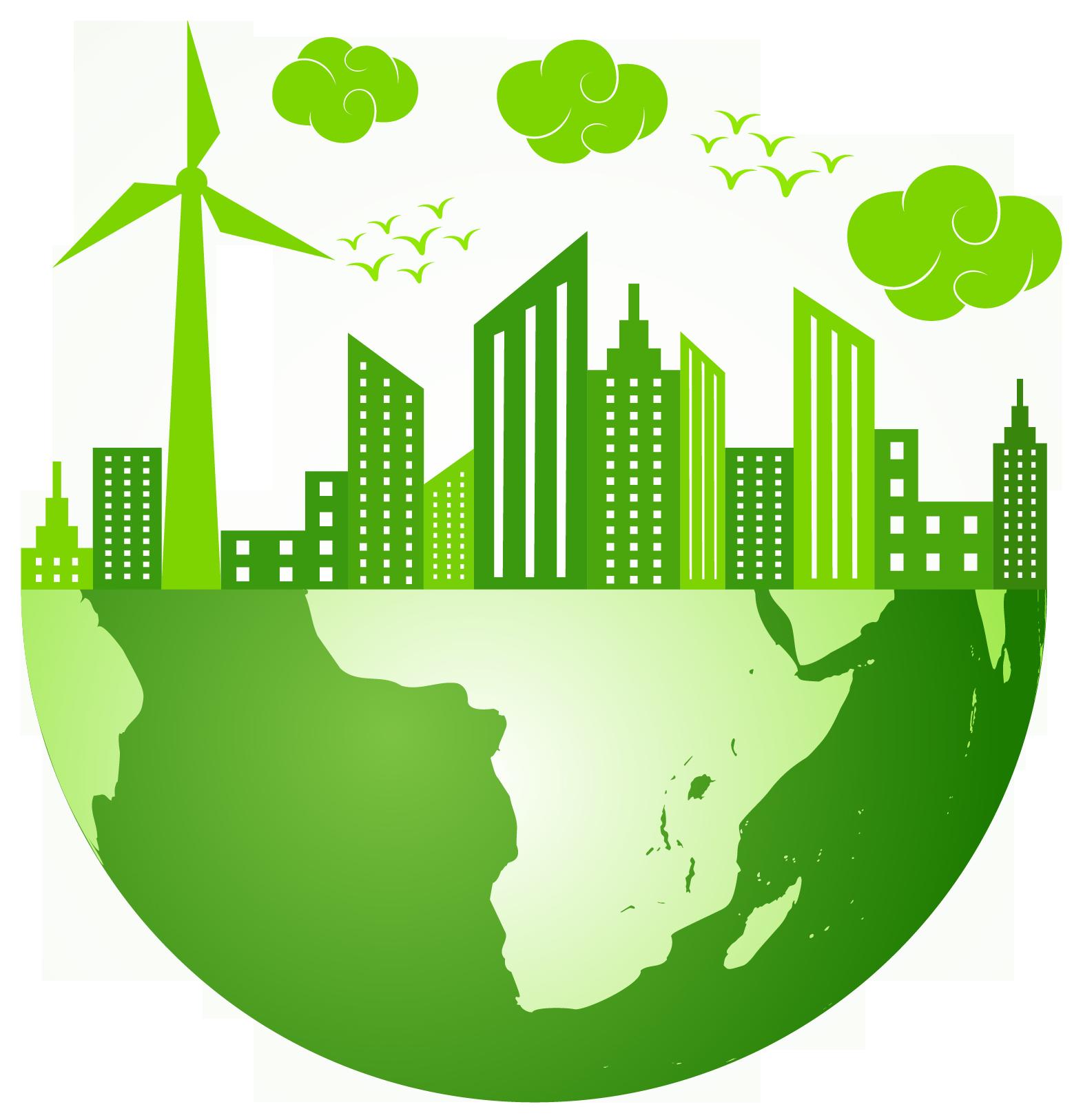 Presentation name green city. Planner clipart urban planner