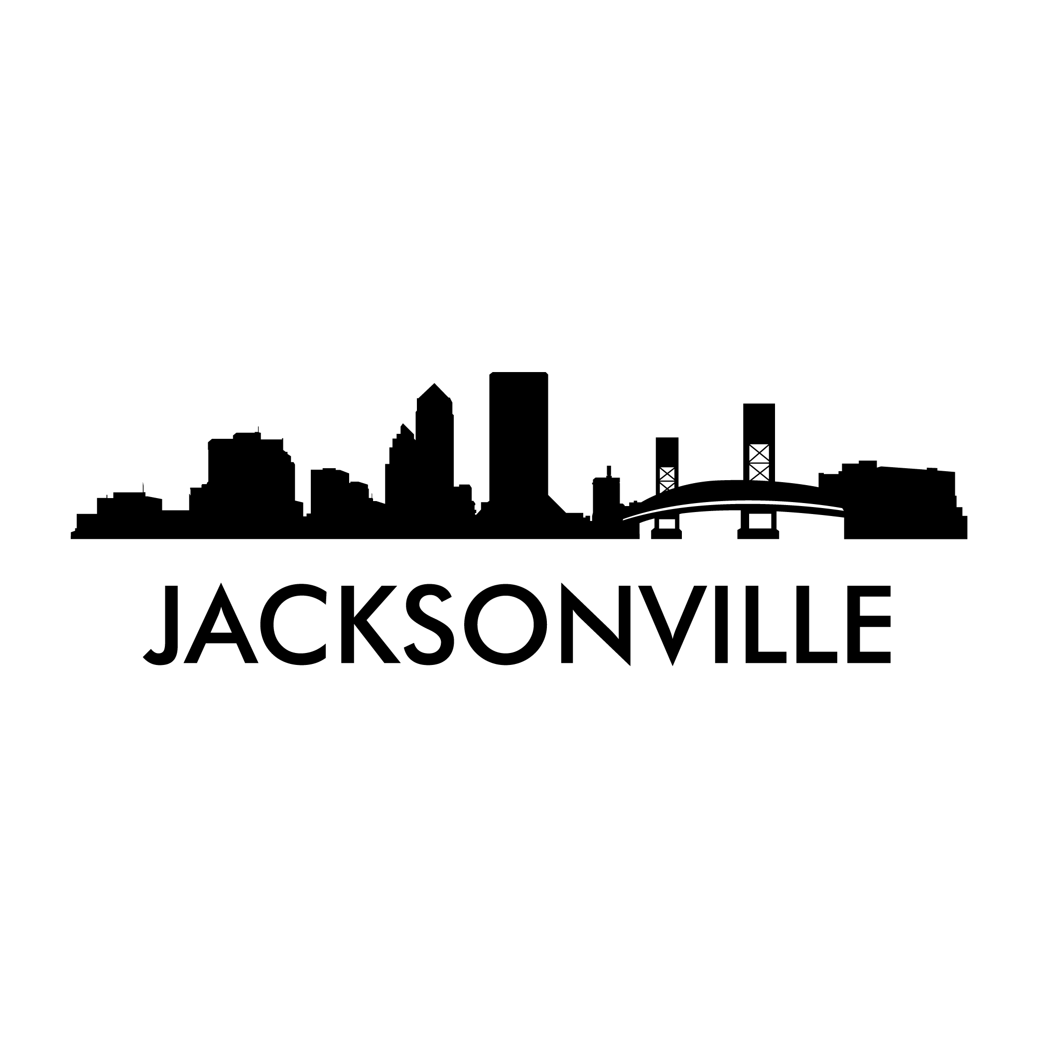 Cityscape clipart jacksonville skyline. Vector decal photomalcom