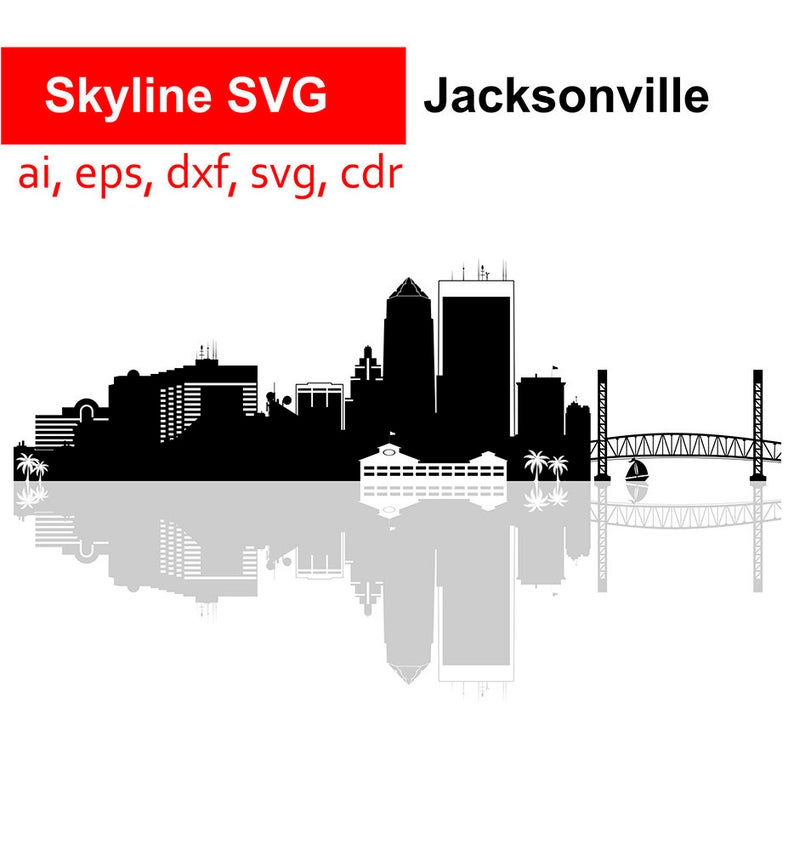 Cityscape clipart jacksonville skyline. Svg jax city cut